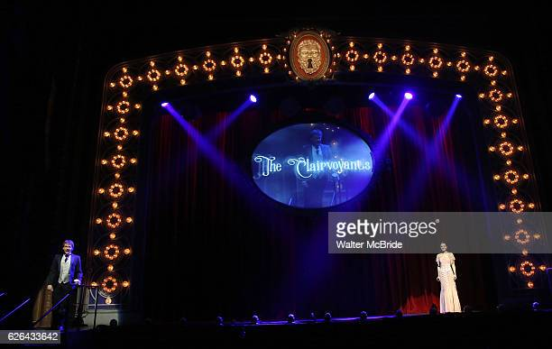 Thommy Ten and Amelie van Tass The Clairvoyants from 'The Illusionists' during a press preview of 'The Illusionists Turn of the Century' at The...