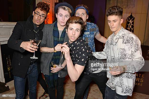 JJ Thompson Josh Ware Joe 'Connor' Conaboy Jay Scott and Matt Cahill of Kingsland Road attend a party to celebrate 25 years of Magnum at Home House...