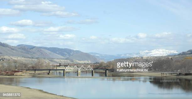 thompson river, kamloops, british columbia, canada - kamloops stock pictures, royalty-free photos & images