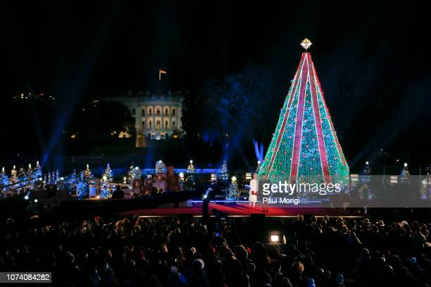 Thompson Square perform at the 96th annual National Christmas Tree Lighting at The Ellipse in President's Park on November 28 2018 in Washington DC