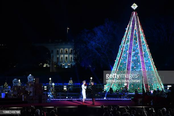 Thompson Square performs during the lighting of the National Christmas Tree in Washington DC on November 28 2018