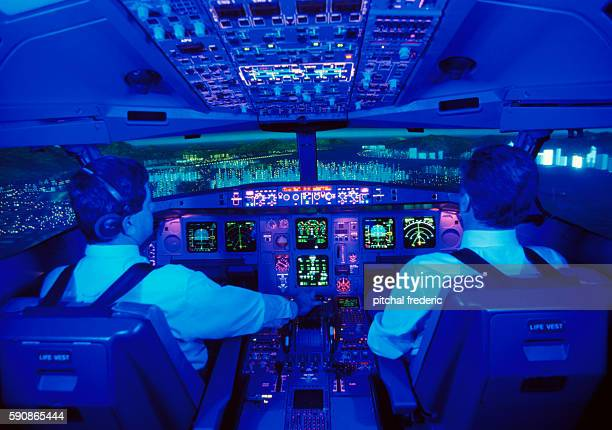 Thomson fourengine longhaul A340 passenger airline training simulator manufactured by Airbus Industries