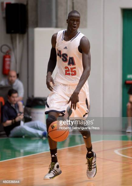 Thon Maker of team USA in action during adidas Eurocamp day three at La Ghirada sports center on June 9 2014 in Treviso Italy