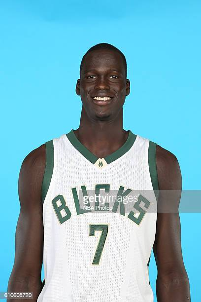 Thon Maker of the Milwaukee Bucks poses for a head shot during the 20162017 Milwaukee Bucks Media Day on September 26 2016 at the Milwaukee Bucks...