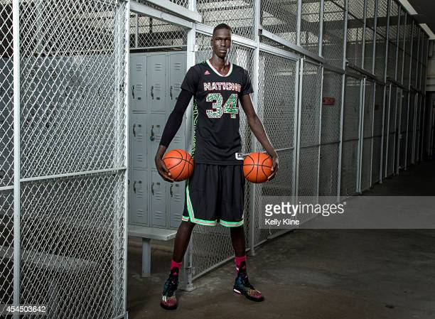 Thon Maker poses for a portrait during the 2014 adidas Nations August 4 2014 at Long Beach City College in Long Beach California