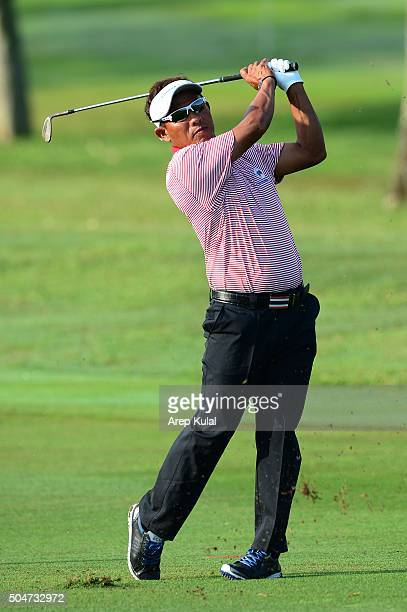Thongchai Jaidee of Team Asia pictured during the practice round ahead of Eurasia 2016 presented by DRBHICOM at Glenmarie GCC on January 13 2016 in...