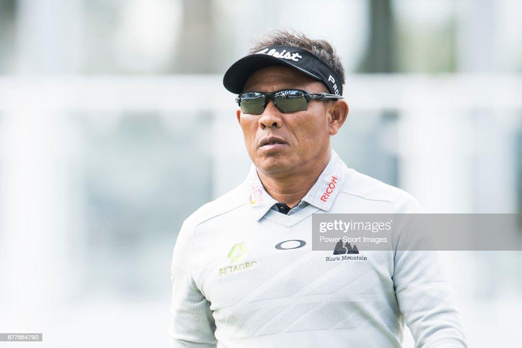 Thongchai Jaidee of Thailand during round one of the UBS Hong Kong Open at The Hong Kong Golf Club on November 23, 2017 in Hong Kong, Hong Kong.