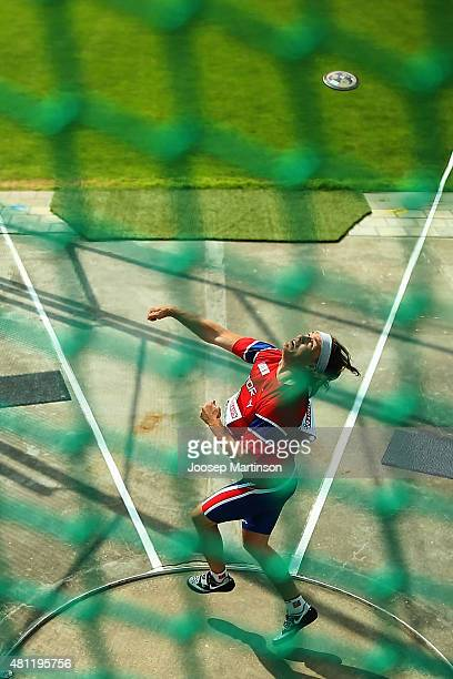 Thor Olav Rosvold of Norway competes during the Men's Discus Throw qualification at Ekangen Arena on July 18 2015 in Eskilstuna Sweden