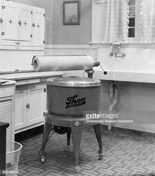 Thor washing machine with a General Electric motor.