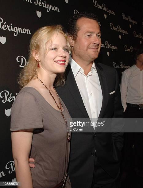 Thora Birch and Frederic Cumenal President of Dom Perignon