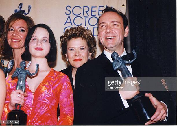 Thora Birch Annette Bening and Kevin Spacey during 6th Annual Screen Actors Guild Awards at Shrine Auditorium in Los Angeles California United States