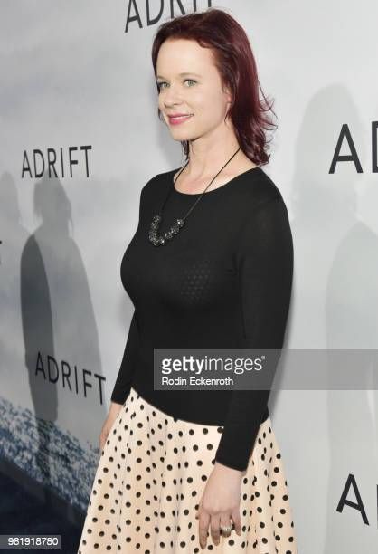 Thora Birch arrives at the premiere of STX Films' 'Adrift' at Regal LA Live Stadium 14 on May 23 2018 in Los Angeles California