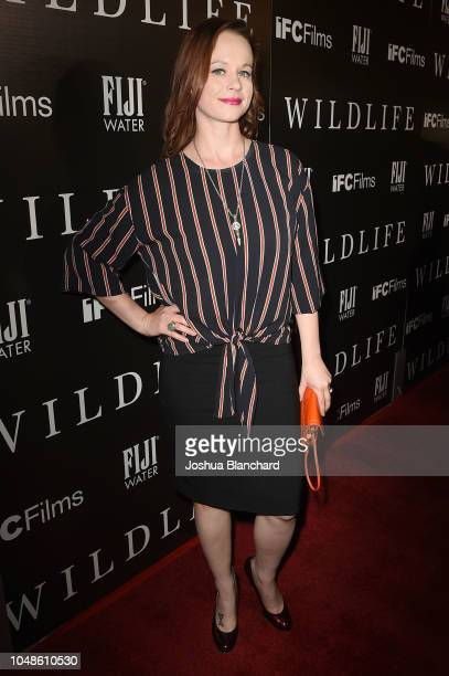 Thora Birch arrives at the The Los Angeles Premiere Of WILDLIFE on October 9 2018 in Los Angeles California