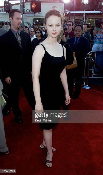 Thora Birch arrives for the premiere of the film 'Lara Croft: Tomb Raider' at Mann Village Theatre in Los Angeles, CA., Monday, June 11, 2001.