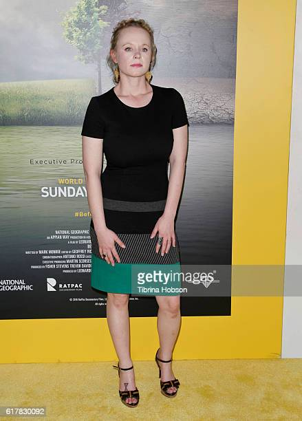 Thora Birch attends the Screening of National Geographic Channel's 'Before The Flood' at Bing Theater At LACMA on October 24 2016 in Los Angeles...