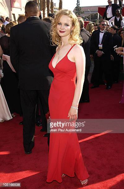 Thora Birch during The 55th Annual Primetime Emmy Awards Arrivals at The Shrine Theater in Los Angeles California United States