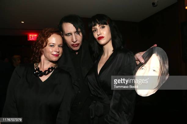 Thora Birch Lindsay Usich and Marilyn Manson attend The Walking Dead Premiere and Party on September 23 2019 in West Hollywood California