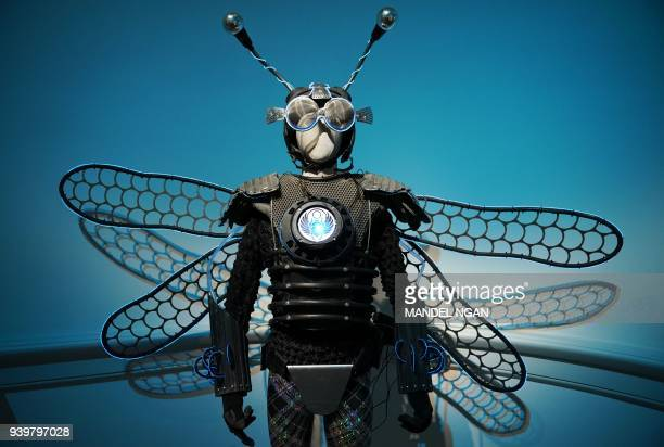 """""""Thorax, Ambassador of the Insects"""" by Tyler FuQua is seen during a preivew of the No Spectators: The Art of Burning Man exhibition at the Renwick..."""