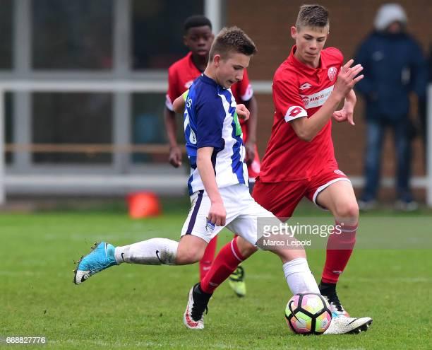 Thorben Rhein of Hertha BSC U14 during the Nike Premier Cup 2017 on april 15 2017 in Berlin Germany a