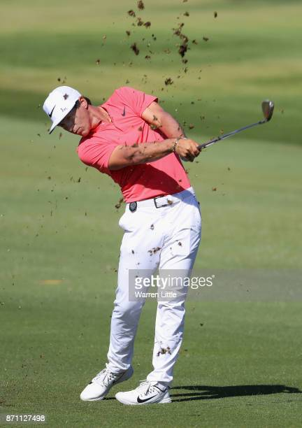 Thorbjorn Olesen of Denmark in action during the pro am ahead of the Nedbank Golf Challenge at Gary Player CC on November 7 2017 in Sun City South...