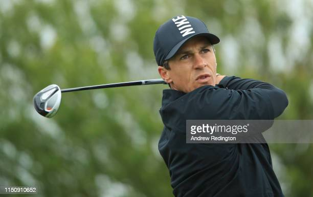 Thorbjorn Olesen of Denmark in action during the Pro Am event prior to the start of the Made in Denmark at Himmerland Golf & Spa Resort on May 22,...