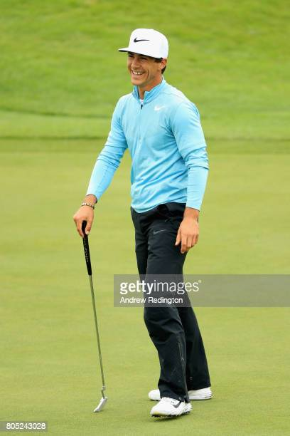 Thorbjorn Olesen of Denmark on the 6th green during day three of the HNA Open de France at Le Golf National on July 1 2017 in Paris France