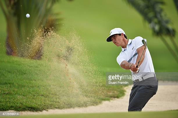 Thorbjorn Olesen of Denmark plays a shot during the second round of the AfrAsia Bank Mauritius Open at Heritage Golf Club on May 8 2015 in Bel Ombre...