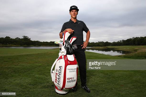 Thorbjorn Olesen of Denmark poses during previews ahead of the World Super 6 at Lake Karrinyup Country Club on February 15 2017 in Perth Australia