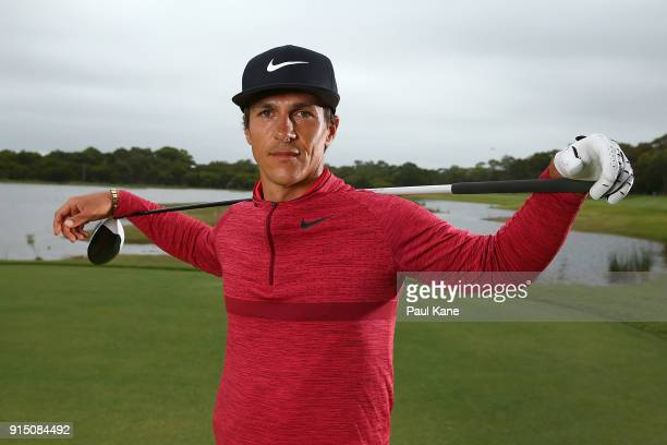 Thorbjorn Olesen of Denmark poses during the proam ahead of the World Super 6 at Lake Karrinyup Country Club on February 7 2018 in Perth Australia