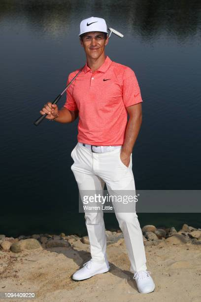 Thorbjorn Olesen of Denmark poses for a portrait during the Pro-Am ahead of the Abu Dhabi HSBC Golf Championship at the Abu Dhabi Golf Club on...