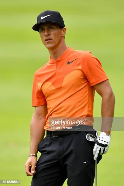 Thorbjorn Olesen of Denmark reacts during day three of Nordea Masters at Barseback Golf Country Club on June 3 2017 in Barsebackshamn Sweden