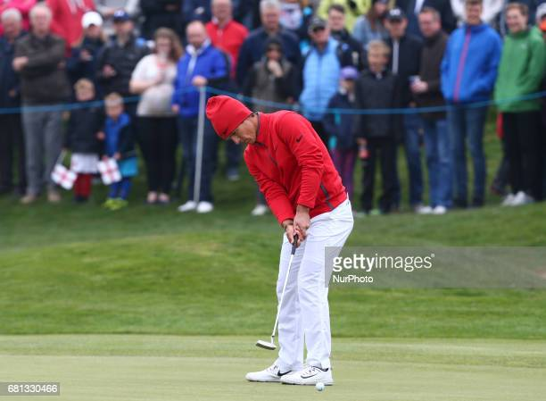 Thorbjrn Olesen of Denmark during The Group A between England and Denmark during day one of GolfSixes at Centhurion Club on May 6 2017 in StAlbans...
