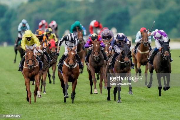 Thore Hammer Hansen riding Coeur De lion win The Ascot Stakes at Ascot Racecourse on Day 1 of the Royal Meeting on June 16, 2020 in Ascot, England....