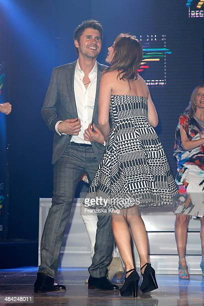 Thore Schoelermann and Felicitas Woll attend the Radio Regenbogen Award 2014 on April 11 2014 in Rust Germany