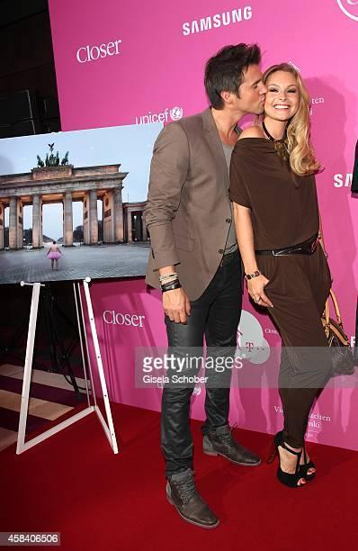 Thore Schoelermann and his girlfriend Jana Julie Kilka attend the CLOSER Magazin Hosts SMILE Award 2014 at Hotel Vier Jahreszeiten on November 4,...