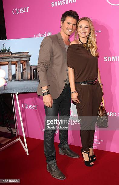 Thore Schoelermann and his girlfriend Jana Julie Kilka attend the CLOSER Magazin Hosts SMILE Award 2014 at Hotel Vier Jahreszeiten on November 4 2014...