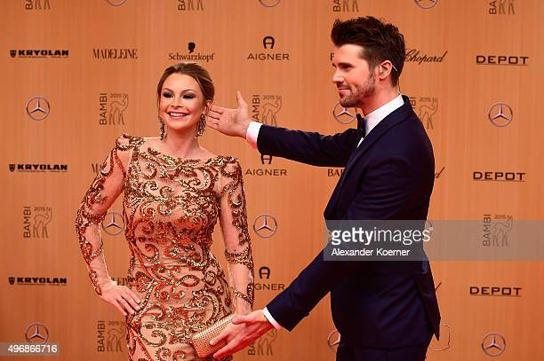 Thore Schoelermann and his girlfriend Jana Julie Kilka attend the Bambi Awards 2015 at Stage Theater on November 12 2015 in Berlin Germany