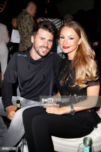 Thore Schoelermann and his girlfriend Jana Julie Kilka attend the Marc Cain Fashion Show After Party Spring/Summer 2018 at ewerk on July 4 2017 in...