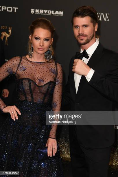 Thore Schoelermann and Jana Julie Kilka arrive at the Bambi Awards 2017 at Stage Theater on November 16 2017 in Berlin Germany