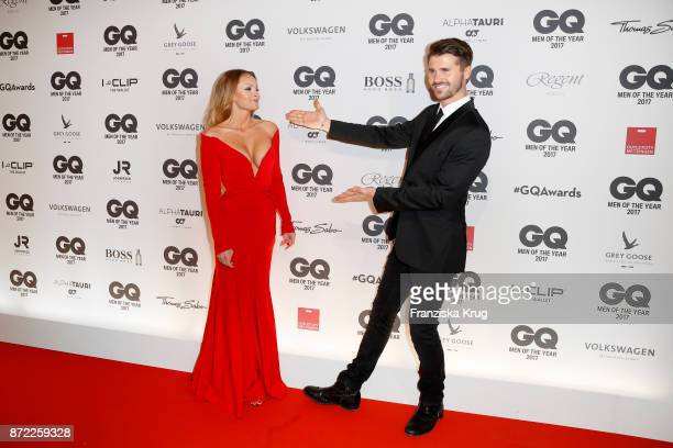 Thore Schoelermann and Jana Julie Kilka arrive for the GQ Men of the year Award 2017 at Komische Oper on November 9 2017 in Berlin Germany