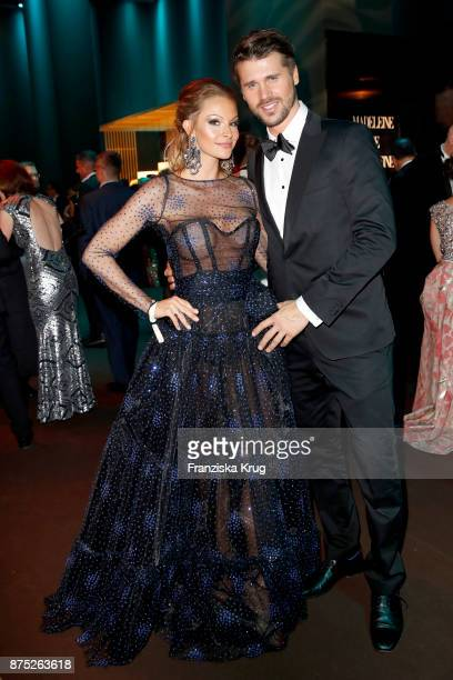 Thore Schoelermann and Jana Julie Kilka pose at the Bambi Awards 2017 party at Atrium Tower on November 16 2017 in Berlin Germany
