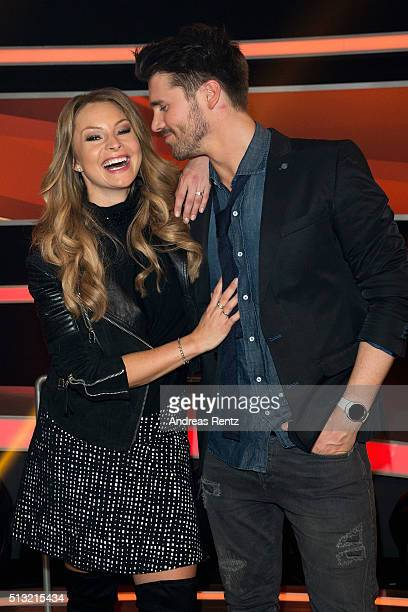 Thore Schoelermann and partner Jana Julie Kilka attend 'Paarduell XXL' photo call on March 1 2016 in Huerth Germany