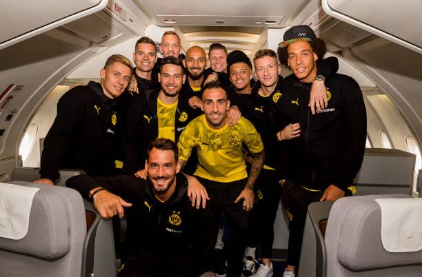 DEU: Borussia Dortmund Team Departs To The USA For Summer Tour 2019
