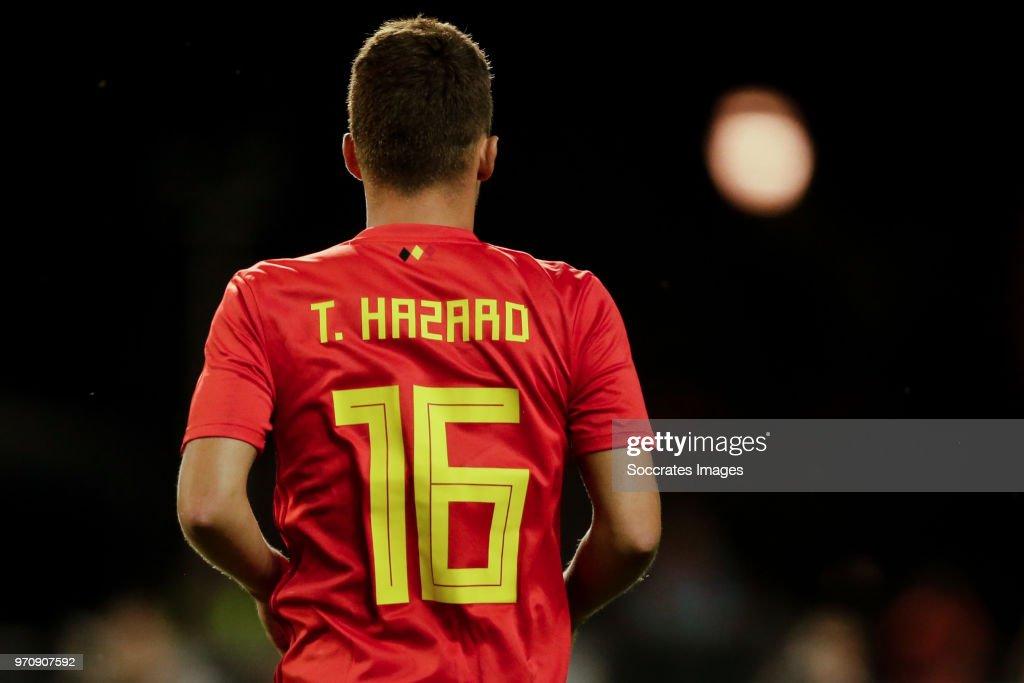 Thorgan Hazard of Belgium during the International Friendly match between Belgium v Egypt at the Koning Boudewijnstadion on June 6, 2018 in Brussel Belgium