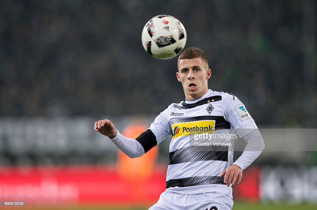 Thorgan Hazard of Borussia Moenchengladbach during the Bundesliga match between Borussia Moenchengladbach and VfL Wolfsburg at Borussia-Park on December 20, 2016 in Moenchengladbach, Germany.