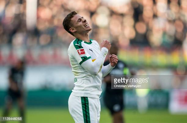 Thorgan Hazard of Borussia Moenchengladbach in action during the Bundesliga match between Eintracht Frankfurt and Borussia Moenchengladbach at...
