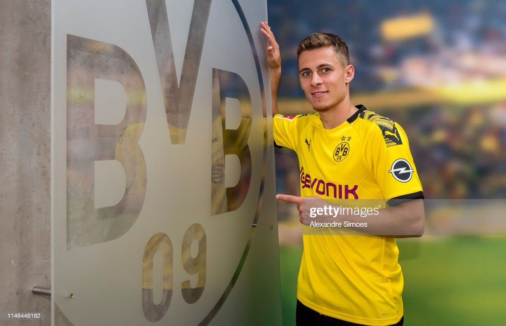 DEU: Borussia Dortmund Unveils New Signing Thorgan Hazard