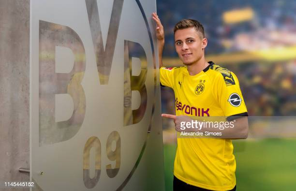 Thorgan Hazard signs a new contract with Borussia Dortmund at Dortmund on May 22 2019 in Dortmund Germany
