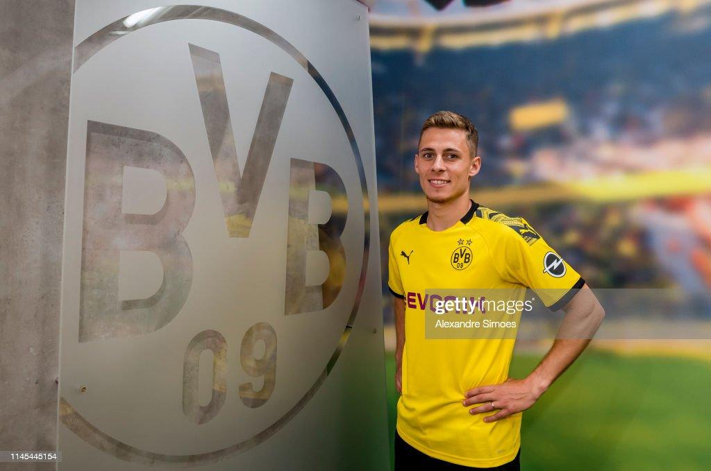 Borussia Dortmund Unveils New Signing Thorgan Hazard : News Photo