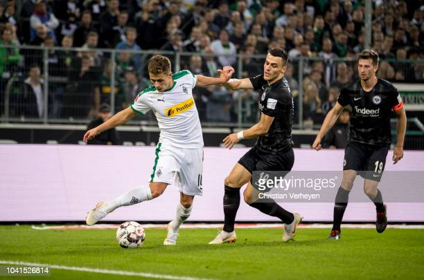 Thorgan Hazardof Borussia Moenchengladbach in action during the Bundesliga match between Borussia Moenchengladbach and Eintracht Frankfurt at...